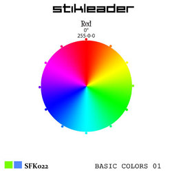 [sfk022] Stikleader  - Basic Colors 01