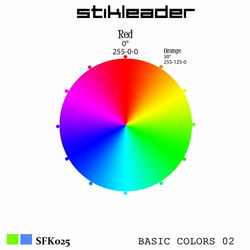 [sfk025] Stikleader - Basic Colors 02