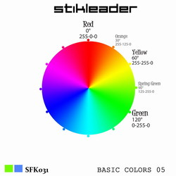 [sfk031] Stikleader - Basic Colors 05